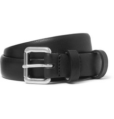 A.P.C. 2.5cm Black Leather Belt