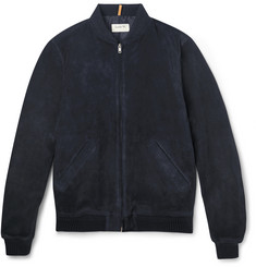 A.P.C. Louis W Suede Bomber Jacket