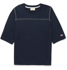 Maison Kitsuné Cotton-Jersey Baseball T-Shirt