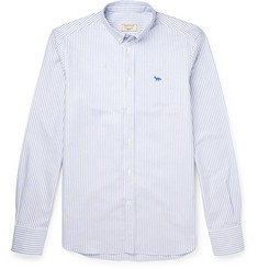 Maison Kitsuné Striped Cotton Oxford Shirt