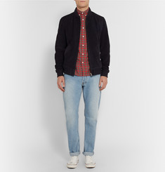 Maison Kitsuné Slim-Fit Plaid Cotton-Flannel Shirt