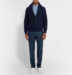 Maison Kitsuné Slim-Fit Virgin Wool-Flannel Trousers