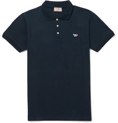 Maison Kitsuné Slim-Fit Cotton-Piqué Polo Shirt