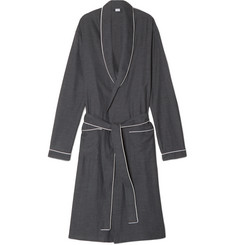 Zimmerli Herringbone Cotton-Flannel Robe