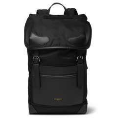 Givenchy Leather-Trimmed Shell Backpack