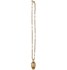 Givenchy Gold-Tone Skull Necklace