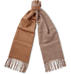 Valentino Checked Silk and Cashmere-Blend Scarf