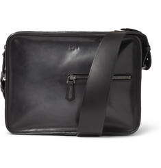 Berluti Un Jour Small Burnished-Leather Messenger Bag
