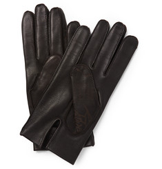 Berluti Silk-Lined Leather Gloves