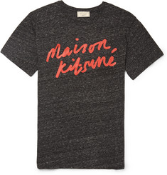 Maison Kitsuné Printed Cotton-Blend Jersey T-Shirt