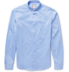 Wooyoungmi Layered-Collar Cotton-Poplin Shirt