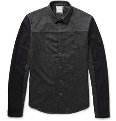 Wooyoungmi Panelled Wool and Cotton Shirt