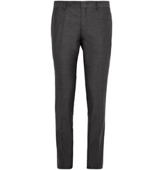 Wooyoungmi Grey Slim-Fit Wool and Silk-Blend Trousers