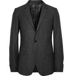 Wooyoungmi Grey Slim-Fit Wool and Silk-Blend Blazer