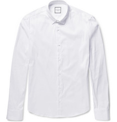 Wooyoungmi Folded-Collar Cotton-Blend Poplin Shirt
