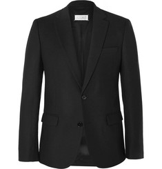 Maison Margiela Black Slim-Fit Wool-Flannel Blazer