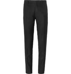 Maison Margiela Black Slim-Fit Wool-Flannel Trousers