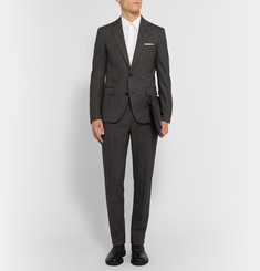Maison Margiela Charcoal Slim-Fit Stretch Cotton and Wool-Blend Suit