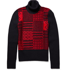 Maison Margiela Ribbed Wool-Blend Rollneck Sweater