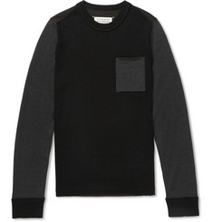 Maison Margiela Panelled Wool Sweatshirt