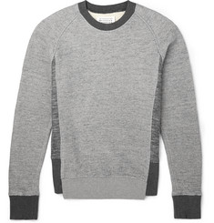 Maison Margiela Two-Tone Cotton and Wool-Blend Sweatshirt