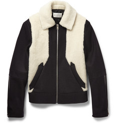 Maison Margiela Faux Shearling and Wool-Blend Jacket