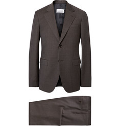 Maison Margiela Brown Slim-Fit Puppytooth Wool Suit