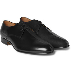 Maison Margiela Textured-Suede and Patent-Leather Derby Shoes