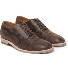 Maison Margiela - Distressed-Leather Oxford Shoes