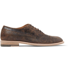 Maison Margiela Distressed-Leather Oxford Shoes