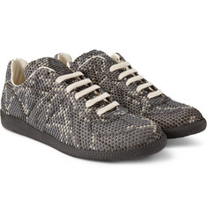 Maison Margiela Replica Snake-Effect Textured Rubber Sneakers