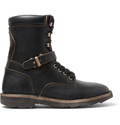Maison Margiela Combat Leather Boots
