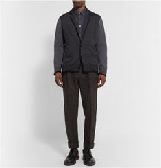 Sacai Tapered Checked Wool Trousers