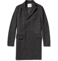 Sacai Houndstooth Wool-Blend Overcoat
