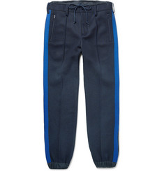 Sacai Striped Cuffed Wool-Blend Trousers
