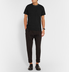 Sacai Shell-Trimmed Cotton-Jersey T-Shirt
