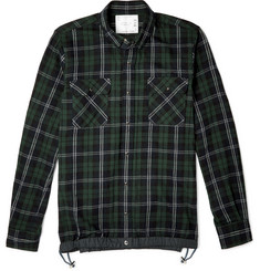 Sacai Checked Cotton-Flannel Shirt