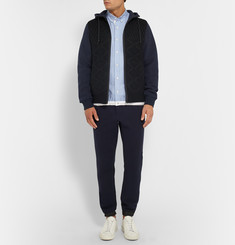 Sacai Wool and Cotton-Blend Hoodie