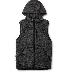 Sacai Reversible Faux Fur and Shell Gilet