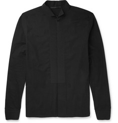 Haider Ackermann Grosgrain-Trimmed Cotton-Flannel Shirt