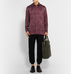 Haider Ackermann Linen and Silk-Blend Jacquard Shirt