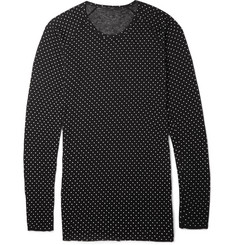 Haider Ackermann Polka-Dot Print Knitted Sweater