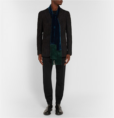 Haider Ackermann Velvet-Trimmed Stretch-Cotton Jersey Sweatpants