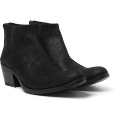 Haider Ackermann - Cuban-Heel Brushed-Suede Boots