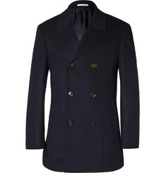 Brunello Cucinelli Double-Faced Wool and Cashmere-Blend Peacoat