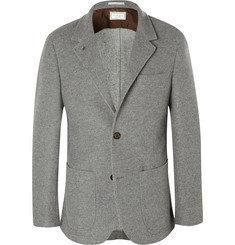 Brunello Cucinelli Grey Unstructured Cashmere Blazer