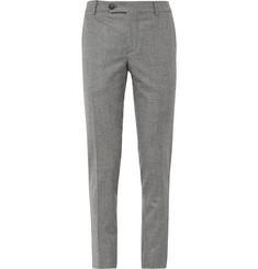 Brunello Cucinelli Slim-Fit Houndstooth Wool Trousers