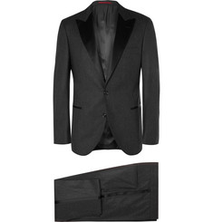 Brunello Cucinelli Charcoal Slim-Fit Wool, Silk and Cashmere-Blend Tuxedo