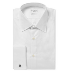 Brunello Cucinelli White Cotton Shirt