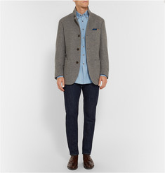 Brunello Cucinelli Slim-Fit Button-Down Collar Denim Shirt